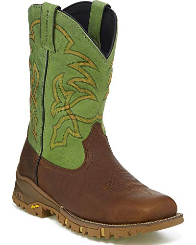 Tony Lama Mens Roustabout Green Waterproof 11 Height TW5009