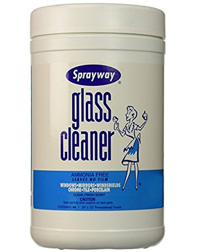 sprayway Glass Cleaner Wipes, 40 Count -  sprayway inc, SW933
