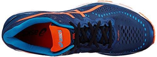 Asics Mens Gel-Kayano 23 Poseidon, Flame Orange and Blue Jewel Running Shoes - 10 UK/India (45 EU)(11 US) (T646N.5809)