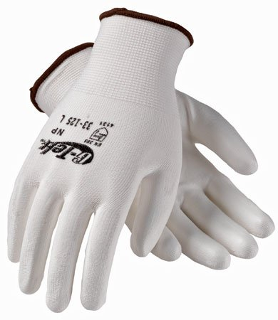Protective Industrial Products Inc 33-125/M - G-Tek General Purpose Work Gloves - Unlined, Size Medium, Polyurethane Coated, Knit Wrist Cuff, Pack of 15