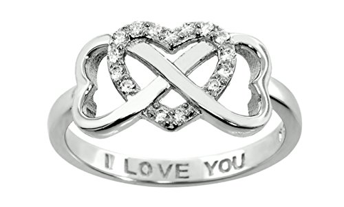 Sterling Silver Double Heart Infinity product image