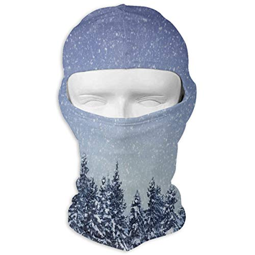 Price comparison product image Balaclava Snowing On The Fir Forest Full Face Masks Ski Sports Cap Motorcycle Hood for Cycling Sports Mountaineering