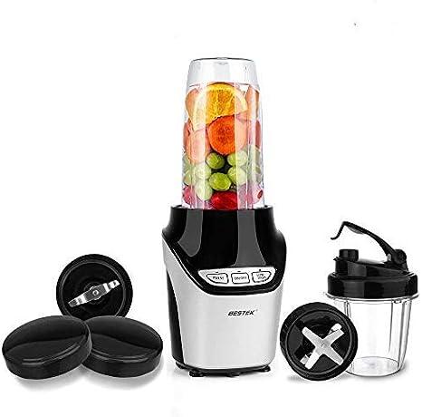 Batidora de Vaso 1000W,BESTEK Licuadora Acero Inoxidable Picar Hielo con 2 Velocidades, 1L Vaso, Libre de BPA-Color Negro: Amazon.es: Hogar