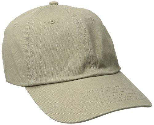 Dorfman Pacific Men's Washed Twill Cap with Precurve Brim, Khaki, One Size