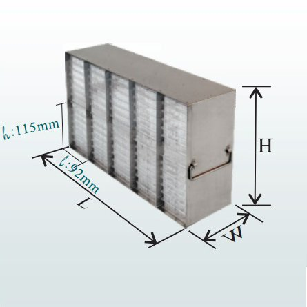 (Upright Freezer Rack for Microplates, Holds 96 Plates)