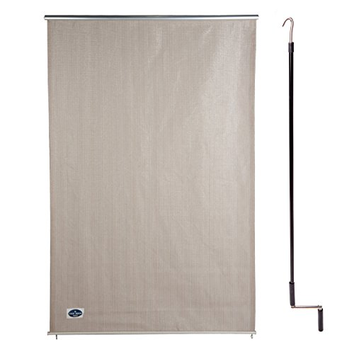 Cool Area 4' X 6' Exterior Cordless Roller Shade in Color (One Way Roller Clutch)