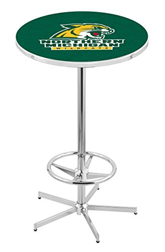 Holland Bar Stool L216C Northern Michigan University Officially Licensed Pub Table, 28