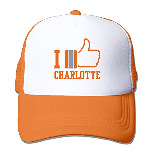 - NONGFU Ilike Charlotte Big Foam Trucker Baseball Cap Mesh Back Adjustable Cap