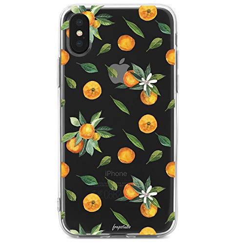 iPhone Xs Max Case,Girls Women Orange Lemon Cute Funny Fruits Girls Hipster Aloha Summer Tropical Hawaii Sweet Orange Tangerines Leaves Daisy Vacation Soft Clear Case Compatible for iPhone Xs Max