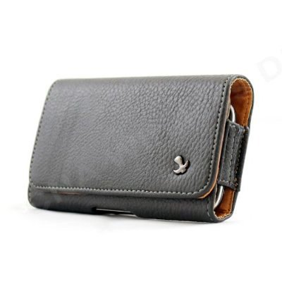 Premium Horizontal Pebbled Leather Carrying Pouch Case for BlackBerry Curve 9360 Phone (AT&T)