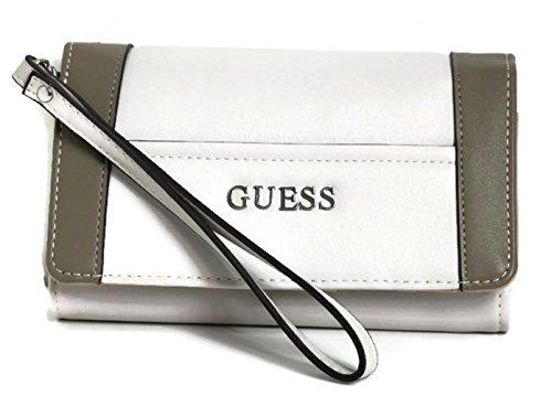 88a174e13b362 Guess Handbag Delaney Phone Organizer Wristlet, Bone Multi VL453542-BMT