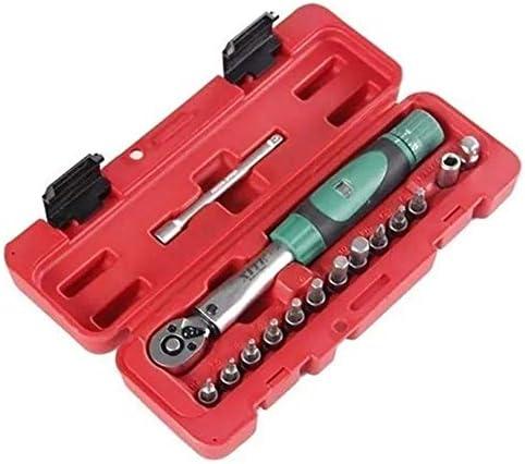 ドライバーセット、15 in 1 2-20Nmトルクレンチ修理ツールセット、自転車家庭用ユニバーサルハンドツール