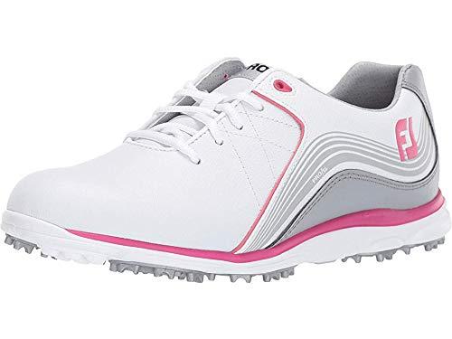 FootJoy Women's Pro SL Spikeless White/Grey/Fuchsia 6.5 M US by FootJoy