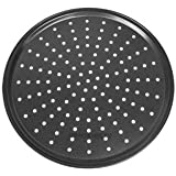 Alda Non Stick Carbon Steel Pizza Pan, 25cm, Black