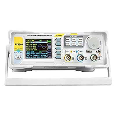Signal Generator, Upgraded FY6900-60M 60MHz Signal Generator Counter, High Precision Multi-Functional Waveform Function Generator Frequency Meter(US)