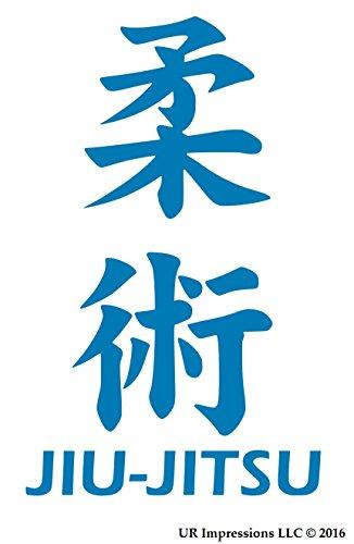 (UR Impressions ABlu Jiu Jitsu Kanji Decal Vinyl Sticker Graphics for Cars Trucks SUV Vans Walls Windows Laptop|Azure Blue|7.25 X 4.5 inch|URI115-AB)