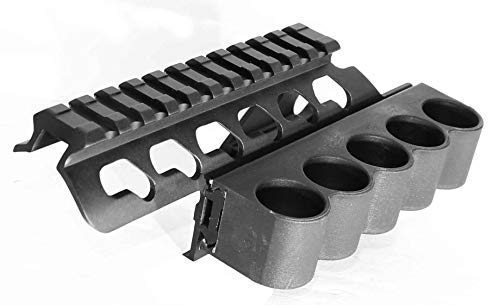 Trinity Rail - Trinity Remington 870 Shell Holder Single Rail Mount Black