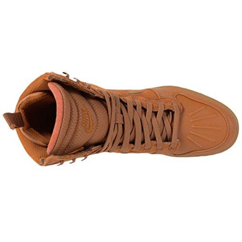 Nike Womens Sky Hi Sneakerboot 2.0 Zeppa Scarpa Alta Moda Fulva / Tawny-vela-gomma Marrone Medio