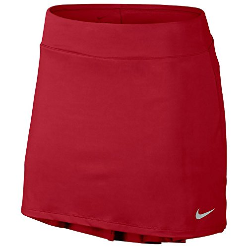 Pleated Skirt Tennis Nike - Nike Women's Pleated Tennis Skirt Elastic Skort (Medium, Tropical Pink/Flat Silver)