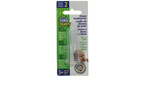 Amazon.com: Baby Buddy Finger Toothbrush Stage 2 for Babies/Toddlers, Kids Love Them, Clear by Baby Buddy: Toys & Games