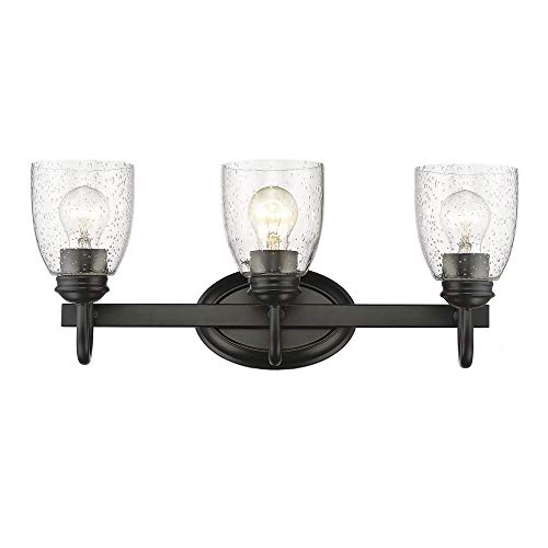 Golden Lighting 8001-BA3 BLK-SD Three Light Bath Vanity Black
