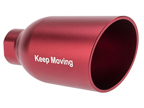Evike - Angel Custom Diesel Amplified System for Airsoft Pistols/Rifles - Keep Moving - Red / 14mm CCW - (68196)