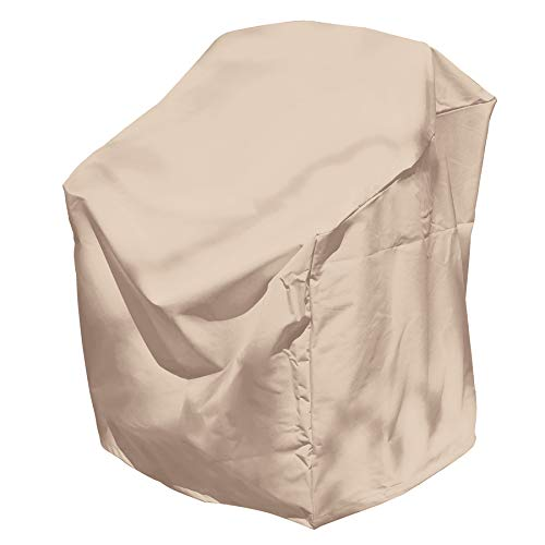 Elemental Tan Polyester Weatherproof Dining Patio Chair Cover