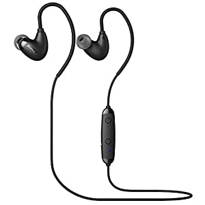 AUKEY Arcs Bluetooth Headphones, Sport Earbuds with Comfort Fit, 6 Hours Playtime, Built-in Microphone and Sweatproof for Running, Workout, Gym