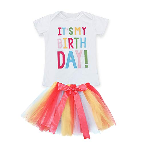 5897657d0c20b TTYAOVO Little Girls Unicorn Birthday Dress with Rainbow Tutu Skirt ...