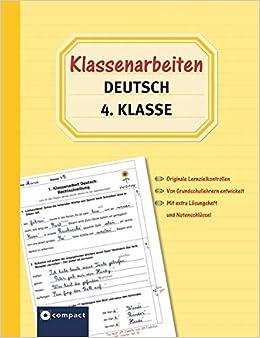 Klassenarbeiten Deutsch 4 Klasse Originale Lernzielkontrollen Von
