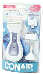 Conair Satiny Smooth Ladies All-in-One Rechargeable Personal Groomer; Use Wet or Dry