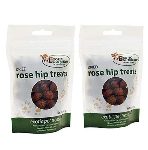 (Exotic Nutrition Dried Rose Hips 4.2 oz. - Healthy Treat for Prairie Dogs, Chinchillas, Squirrels, Degus, Sugar Gliders and Other Small Animals)