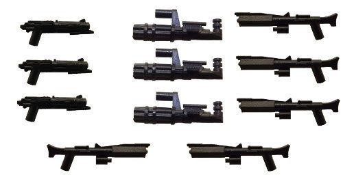Little Arms 11-Piece Weapon Set: Clone Blaster, Minigun, Replicant Rifle