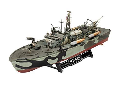 Revell GmbH Revell 05165 5165 1:72 Patrol Torpedo Boat PT-588/PT-579 (Late) Plastic Model Kit, Multicolour, 1/72