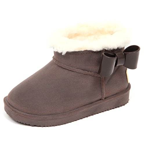 Shoe Kid Girl Brushed Monnalisa Marron Bimba E1406 Boot Gomma Rubber Brown Stivaletto wa4WxRAq8