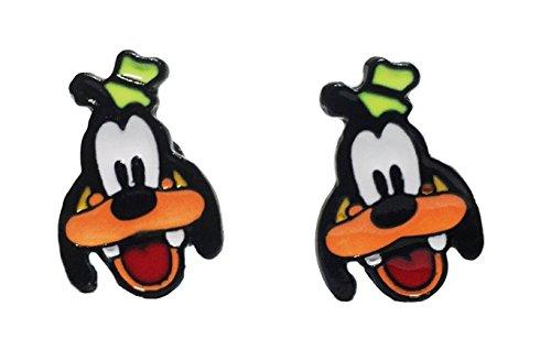 Disney's Goofy Character Metal Enamel Stud Earrings Goofy Jewelry