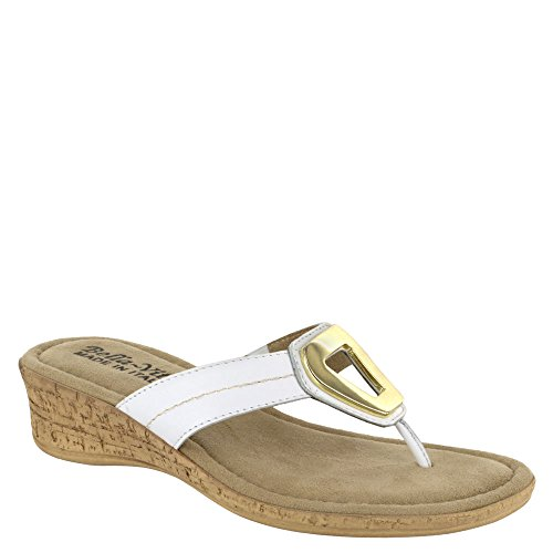 Lou Thong Sandal Vita Bella White Italy Leather Women's znxvzwqE