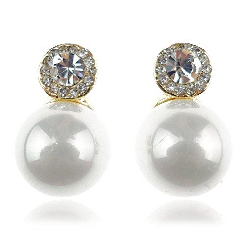 """Ehvan® mesdames Senhora Paras série perle 15 etoiles latin millésime Royal & classique boucle d'oreille goutte 5/8 """"Doré"""