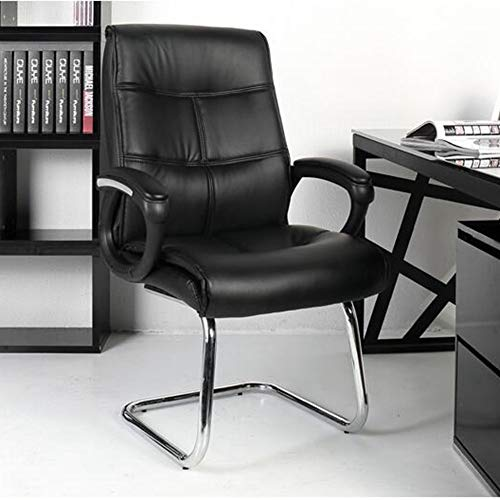 Chairs CJC Office Ergonomic Breathable PU Leather Chrome Base Executive 350-Pound Capacity Multifunction (Color : Black)