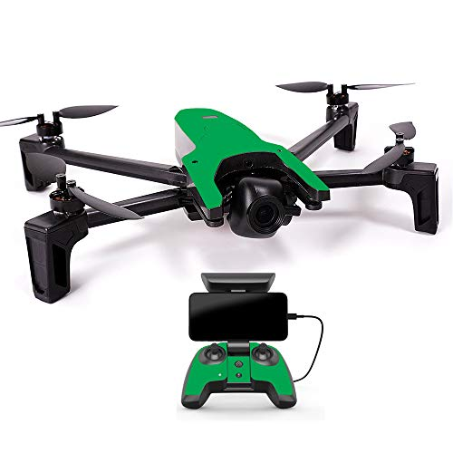 MightySkins Skin for Parrot Anafi Drone - Solid Green | Protective, Durable, and Unique Vinyl Decal wrap Cover | Easy to Apply, Remove, and Change Styles | Made in The USA