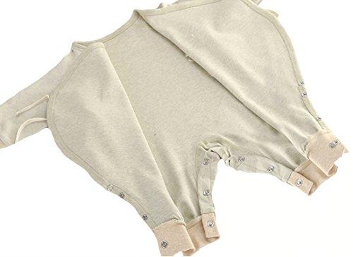 Fairy Baby Unisex Newborn Organic Cotton Belt Butterfly Slant Opening Romper,0-3M,Green Feet