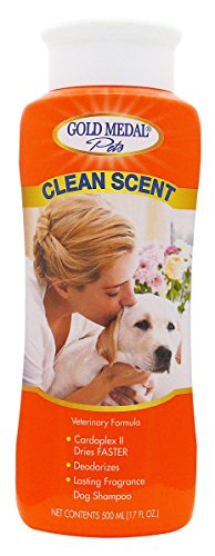 Gold Medal Pets Clean Scent Shampoo with Cardoplex for Dogs, 17 (Gold Medal Formula)