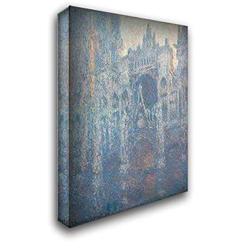 The Portal of Rouen Cathedral in Morning Light 23x34 Gallery Wrapped Stretched Canvas Art by Monet, Claude