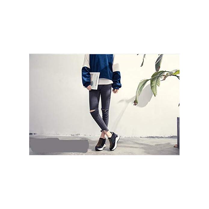 Hbdlh Scarpe Da Donna scarpe Donna Primavera Solo 100 Di Serie Casual Autunno E Inverno Altezza Interna Spesso Unico Studente Le Sportive
