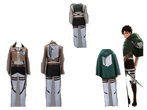 Shingeki No Kyojin Rivaille Costume (Attack On Titan Shingeki No Kyojin Levi Rivaille Scouting Legion cosplay costume)