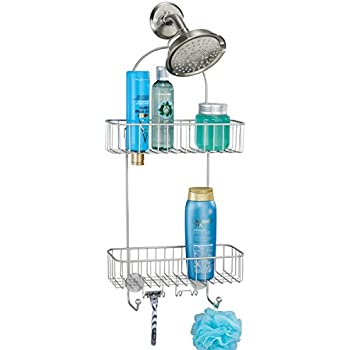 Mdesign Extra Wide Bathroom Shower Caddy For Shampoo Conditioner