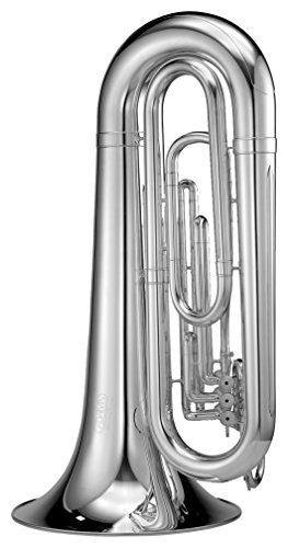 Adams MTB2S Marching Tuba 4/4 with ABS Case, Lag Bell, Silver by Adams
