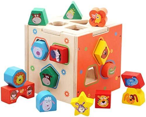 ベビー木製ブロック形状ソーター玩具幾何パズルブロックマッチングソーティング教育玩具