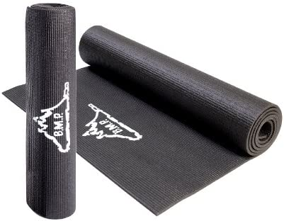 Amazon Com Black Mountain Products Yoga Mat Exercise Mat 72 X 24 Cushioned Mat And Eco Friendly Sports Outdoors