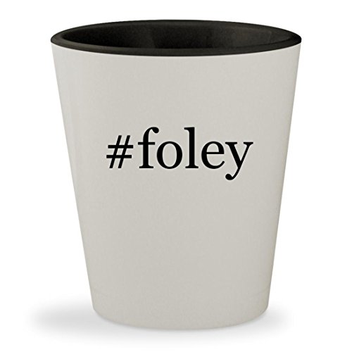#foley - Hashtag White Outer & Black Inner Ceramic 1.5oz Shot Glass